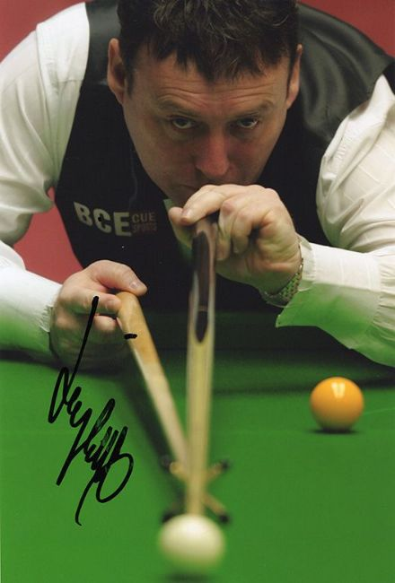 Jimmy White, English snooker player, signed 12x8 inch photo.